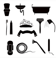 icons of personal care vector image vector image