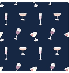 Seamless of alcohol cocktails and drinks vector image
