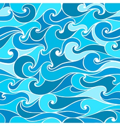 Seamless patterns with stylized wave vector image vector image