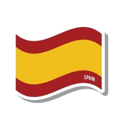 spain patriotic flag isolated icon vector image
