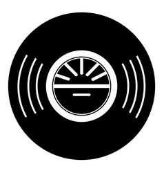 vinyl record icon simple style vector image