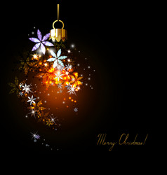 dark Christmas background vector image vector image