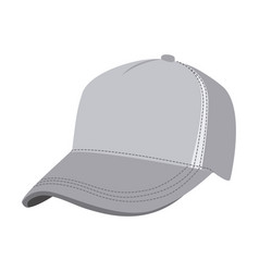 grayscale silhouette with baseball cap vector image vector image