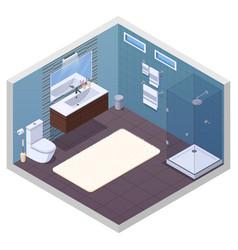 hotel bathroom interior composition vector image vector image