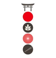 Japan Icon set vector image vector image