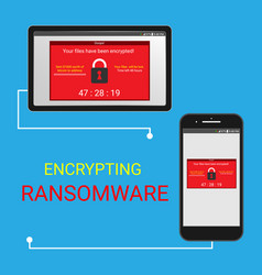 malware encrypted files vector image vector image