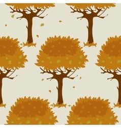 Seamless pattern with orange trees in autumn vector image vector image