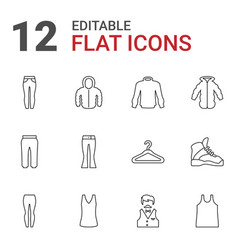 12 casual icons vector