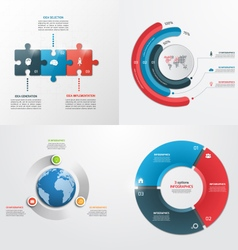 3 steps infographic templates Business concept vector