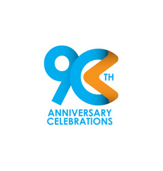 90 years anniversary celebrating template design vector