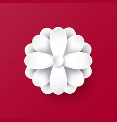 Abstract paper flower 3d vector