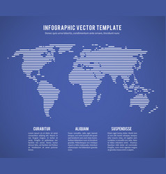 Abstract world map with horizontal line texture vector