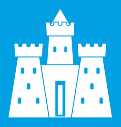 ancient castle palace icon white vector image