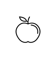 Apple line icon food and diet element healthy vector