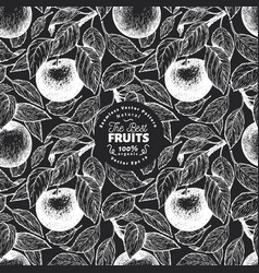apple seamless pattern hand drawn garden fruit on vector image