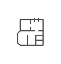 Architecture blueprint line icon vector