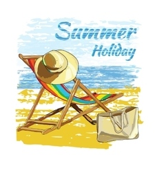 background summer with letteringrecliner on the vector image