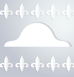 Background with a silhouette of cocked hat vector