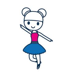 Ballet ballerina icon vector