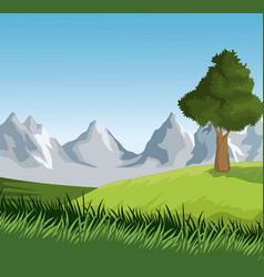 beautiful landscape view vector image