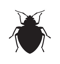 Bedbug insect silhouette vector