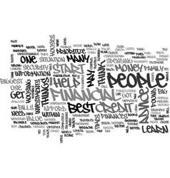 Best financial advice text word cloud concept vector
