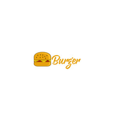 burger logo designs inspiration isolated on white vector image
