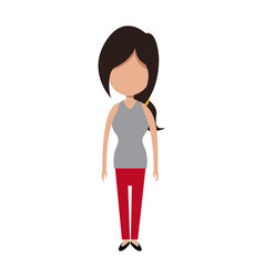 Character woman people standing image vector