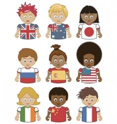 Children flag icons vector