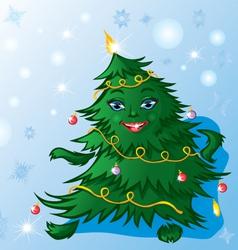 Christmas tree dance vector