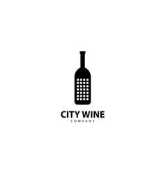 City wine logo icon vector