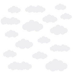 Clouds on white vector