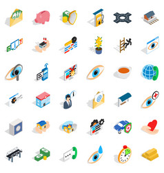 cross icons set isometric style vector image