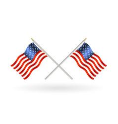 cross united states america flag vector image