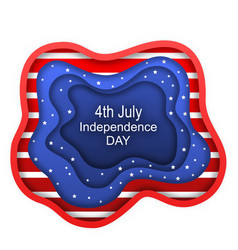 Cut paper background for fourth of july vector