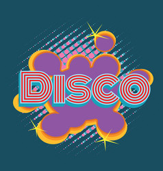 Disco pop art lettering vector