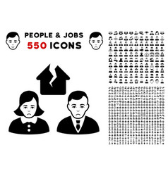 Divorce people icon with bonus vector
