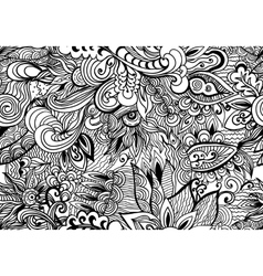 Doodle black and white abstract hand-drawn vector