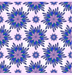 east seamless pattern with abstract flowers vector image