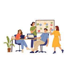 effective business team office group work vector image