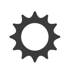 Gear settings isolated icon vector