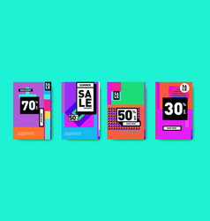 Geometric colorful flat summer sale 50 discount vector