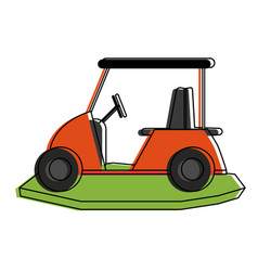 golf cart icon image vector image