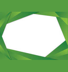green triangle frame border vector image