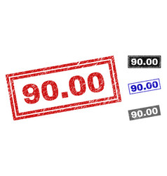 grunge 9000 scratched rectangle watermarks vector image