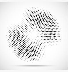 halftone circle frame random dotted background vector image