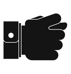 Hand greed icon simple black style vector