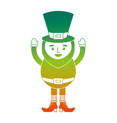 Happy leprechaun cartoon st patricks day character vector