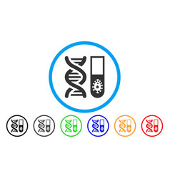 hitech microbiology rounded icon vector image