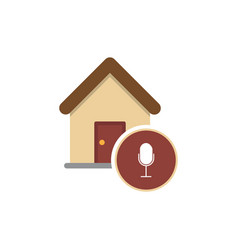 house podcast icon logo design element vector image